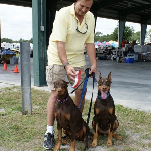 Kira And Tavi And Scott; Vero Dog Show 4-12